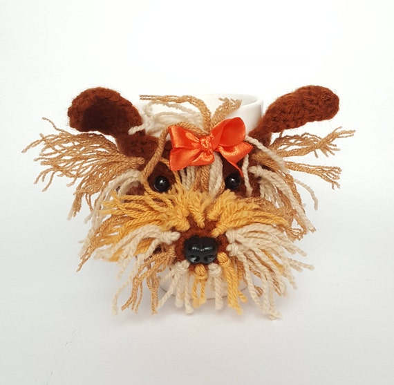 YORK Mug chaud confortable patron, chien au Crochet, Crochet chien cache-, Crochet motif, Tea cosy
