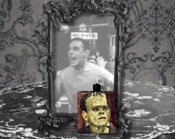 Frankenstein Polymer Clay Classic Monster Pendant