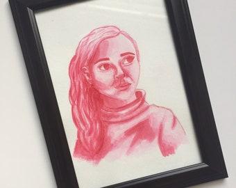 Monotone Watercolor Portraits