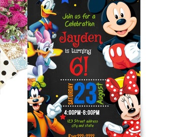 INSTANT DOWNLOAD - Mickey Mouse Invitation - Mickey Mouse Birthday Invitation - Mickey Mouse Invite - Invitation - Birthday Invitation