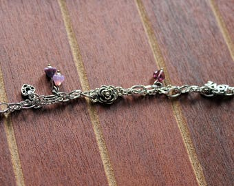Love and Roses Multi-Chain Charm Bracelet