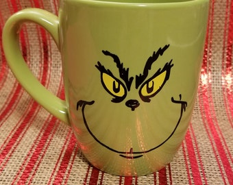 I'm a real GRINCH before my COFFEE Dr. Seuss Christmas coffee mug