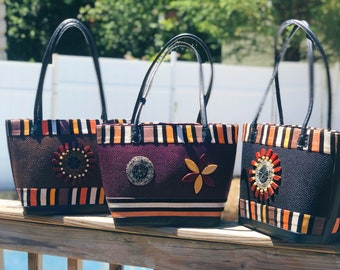 Handmade African Summer Totes | Tribal design bag| African print bag by shopInobi |