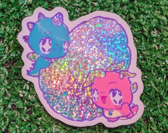 dragon tales scale holographic prism sticker