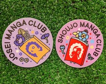 josei or shoujo manga club waterproof sticker