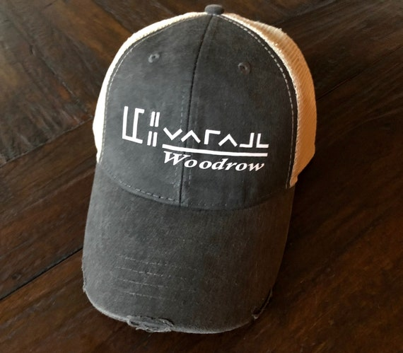 62dfebef626 Custom BLM Mustang Horse Brand hat distressed trucker style