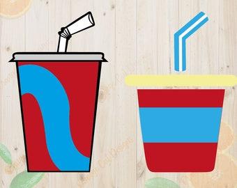 Soda Svg, Fast Food Svg,Soda Cut files, Burgers DXF file, Fast Food for cricut, Soda clipart, Fast Food vector