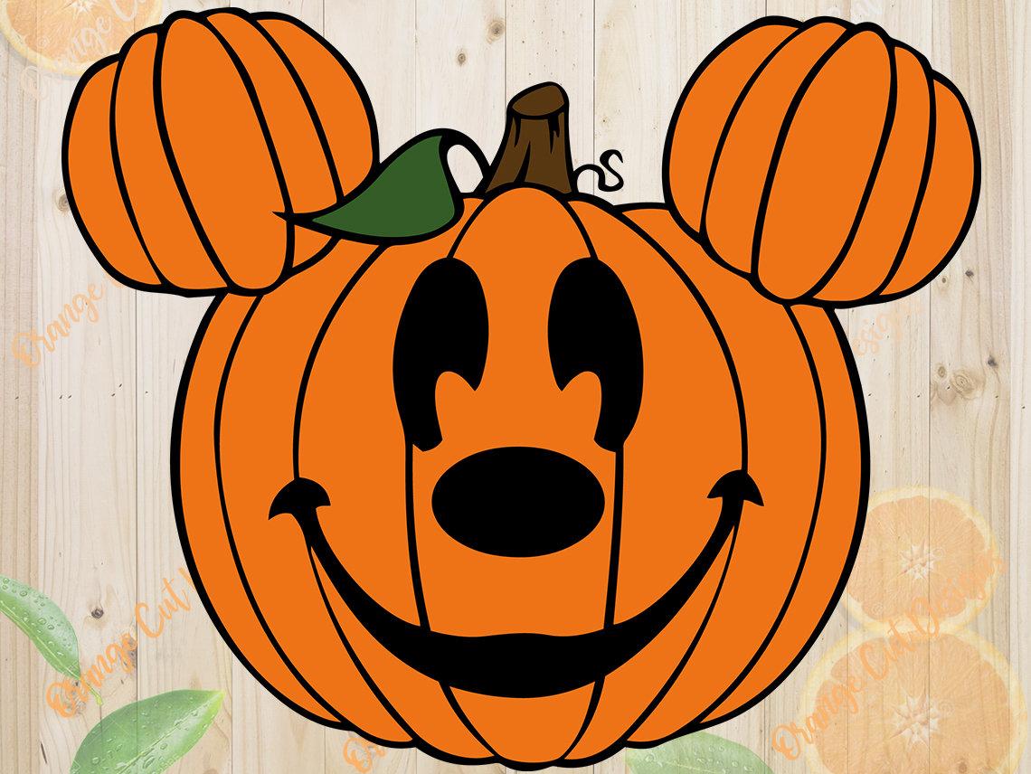 mickey pumpkin svg halloween pumpkin cutfiles svg dxf eps