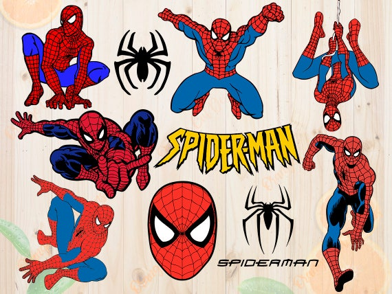 spiderman svg spiderman cutfiles dxf eps png cutfiles etsy