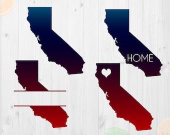 California Svg File, California state silhouette, California Cut file, Eps & Png files, California clipart, CA State for Cricut/Silhouette
