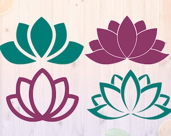 Lotus Flower Svg, Lotus Svg, eps, dxf, png Cut files, Mandala cut files, Flowers svg, Lotus clipart file for Cricut & cutting machines