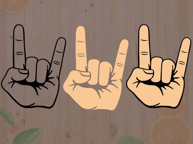 Rock Symbol Svg Rock Dxf Heavy Metal Frame Cut Filesrock Etsy