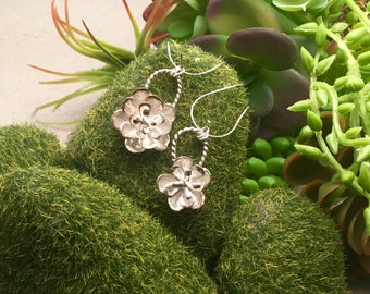 Cast Succulent in 925 Sterling Silver