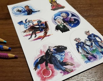 The Dragon Prince Vinyl Sticker sheet, TDP waterproof stickers