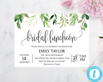 luncheon invitation etsy