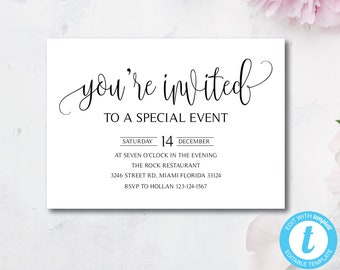 Event Invitation | Event Invitation Etsy