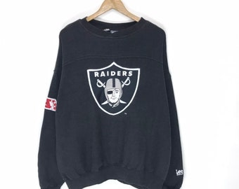 10a8be3c5 Vintage raiders nfl 90 s sweatshirt crewneck jumper big logo embroidery  with side patches very rare item!!!