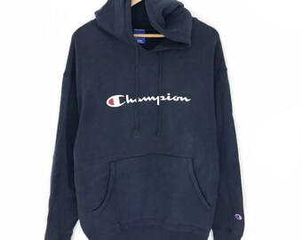 2a6bc044746c0 Vintage champion 90 s hoodie big spell out very rare item!!!