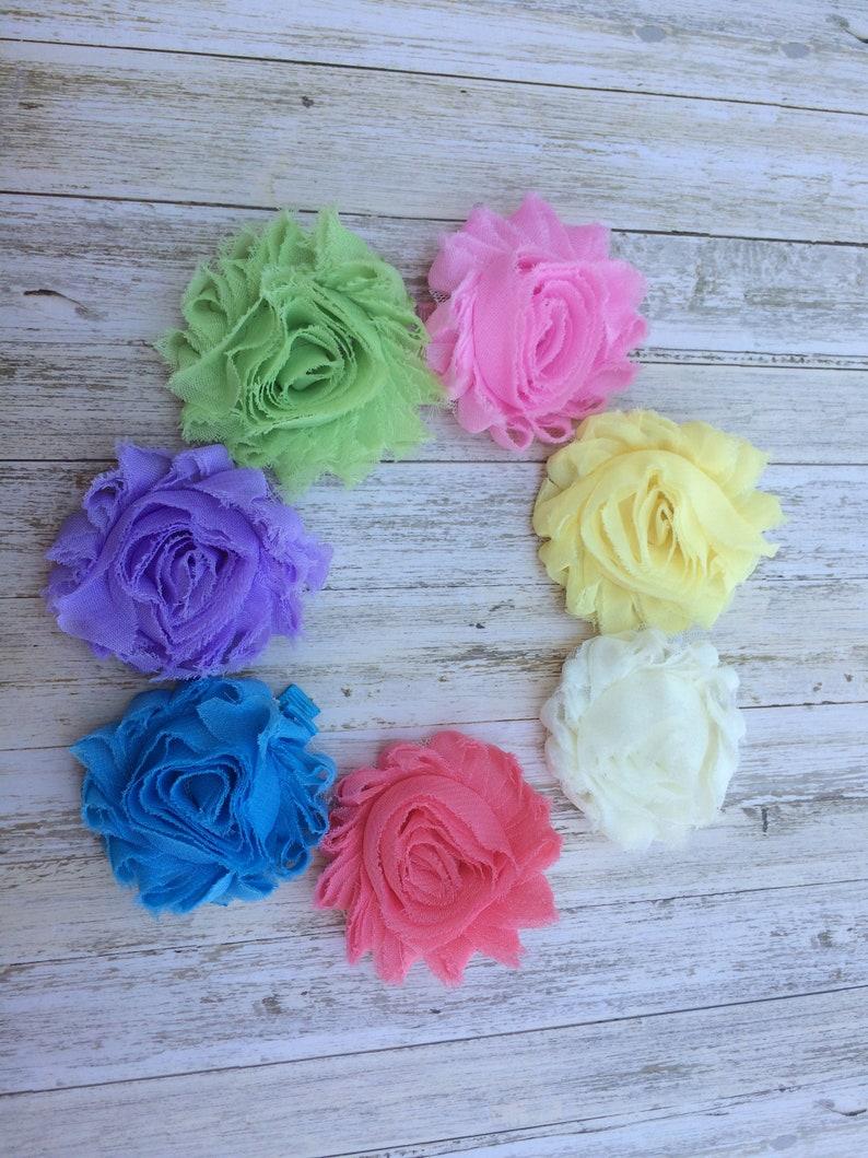 c227e7f51c U Pick one shabby flower hair clip pastel shabby rose shabby   Etsy