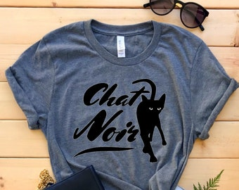 Cat Person Shirt / Cat Tshirt / Black Cat / Fun Tshirt / Chat Noir / Gift for Girlfriend / Mom Gift / Gift for Her / Cat Owner Lover Gift