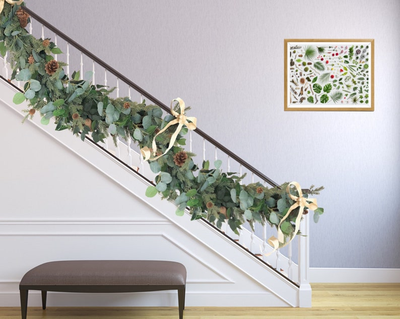 Christmas Garland / Eucalyptus Garland   Pine Garland For Fireplace,  Staircase Garland U0026 Holiday Decoration