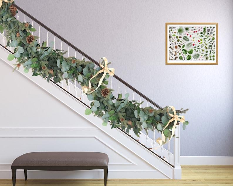 Christmas Garland Eucalyptus Garland Pine Garland For Fireplace Staircase Garland Holiday Decoration