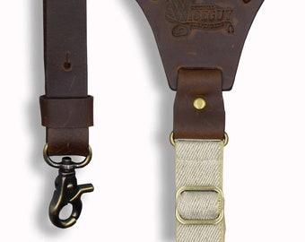 Handmade Leather and Elastic Suspenders for by WiseguySuspenders