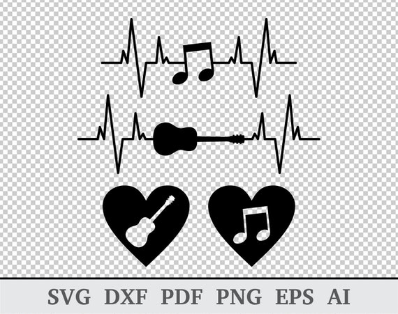 Heartbeat Svg Heart Beat Svg Music Heart Svg Heart Pulse Etsy