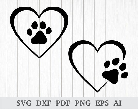 Download Paw SVG Dog Love SVG Paw Heart SVG Dog Paw svg Dog Paw | Etsy