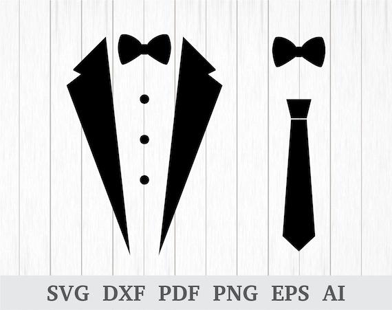 Tuxedo Svg Tux Svg Tuxedo Shirt Svg Bow Tie Svg Tuxedo Etsy