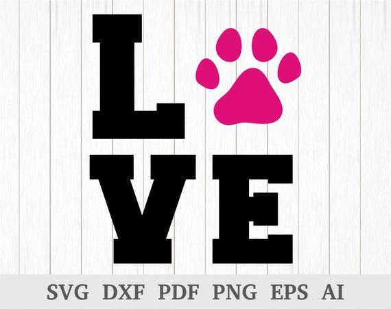 Download Love Paw SVG Love Dog SVG Dog SVG clipart Love Paw Print ...
