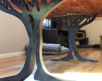 Stupendous Live Edge Table Legs Etsy Home Interior And Landscaping Mentranervesignezvosmurscom