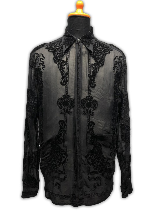 Gianni Versace Silk Sheer Shirt 1990s Rare