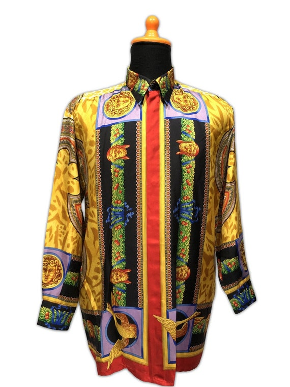 Gianni Versace Silk Shirt Baroque 1990s