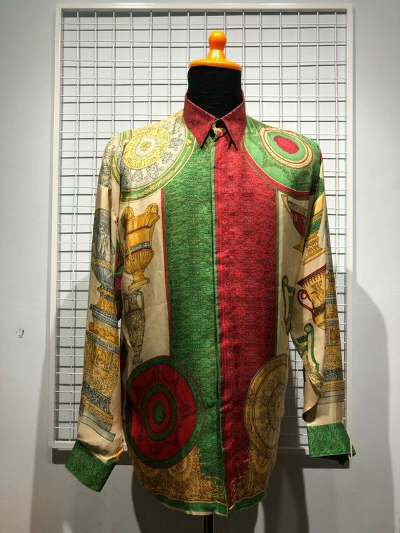 Istante By Gianni Versace Silk Shirt 1990s