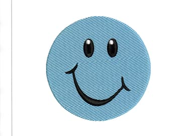 Embroidery Designs Smiley Face Smile 4 x 4 Hoop