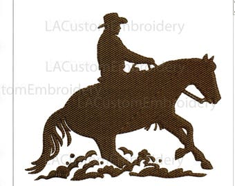 Embroidery Designs Horse Reining Horse Ride to Slide