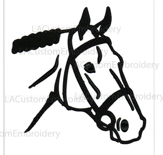 Embroidery Designs Hunt Horse Head Outline Horse Head English