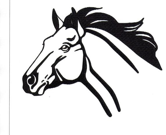 Stickerei Designs Quartal Pferdekopf Pferd Kopf Umriss Pferd | Etsy