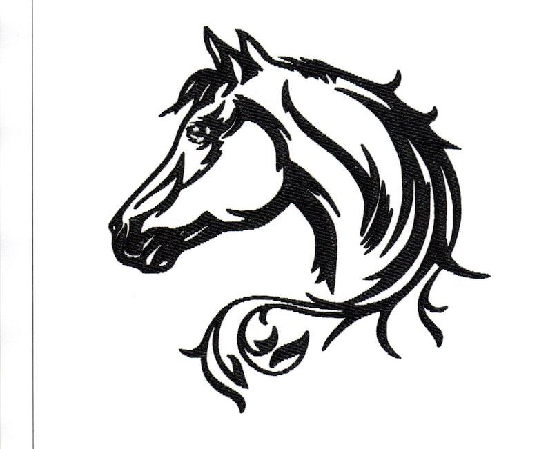 Embroidery Designs Horse Head Outline Fancy Horse Head Fancy