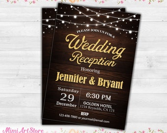 reception only invitation etsy