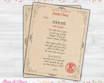 elf on the shelf goodbye letter elf goodbye letter magic elf goodbye letter printable elf goodbye notes christmas elf farewell letter