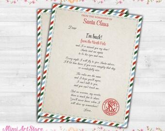elf welcome letter christmas elf arrival letter elf welcome back letter printable elf return letter letter from elf on the shelf notes