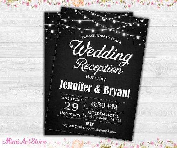 Hochzeitseinladung Empfang Tafel Hochzeit Empfang Einladen Etsy