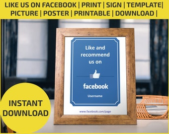 Like Us On Facebook Print Flyer Poster Editable Printable Download Sign Template Picture