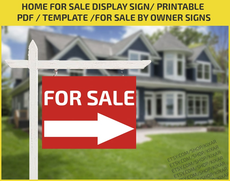 Home For Sale Display Sign Real Estate Sign Home For Sale Etsy