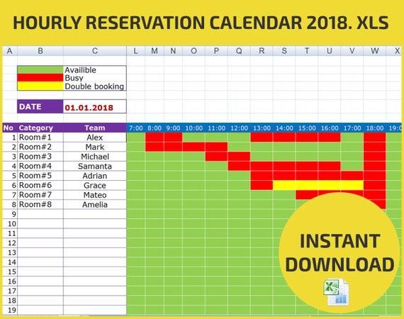 Terminplanung und stündliche Reservierung Buchung Kalender