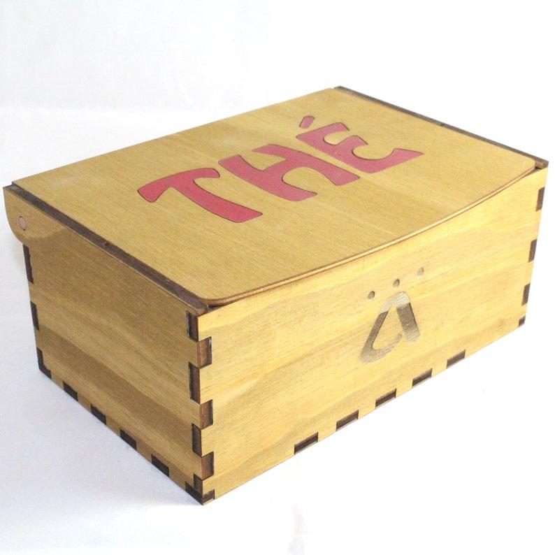 Boite \u00e0 th\u00e9 en bois 6 compartiments