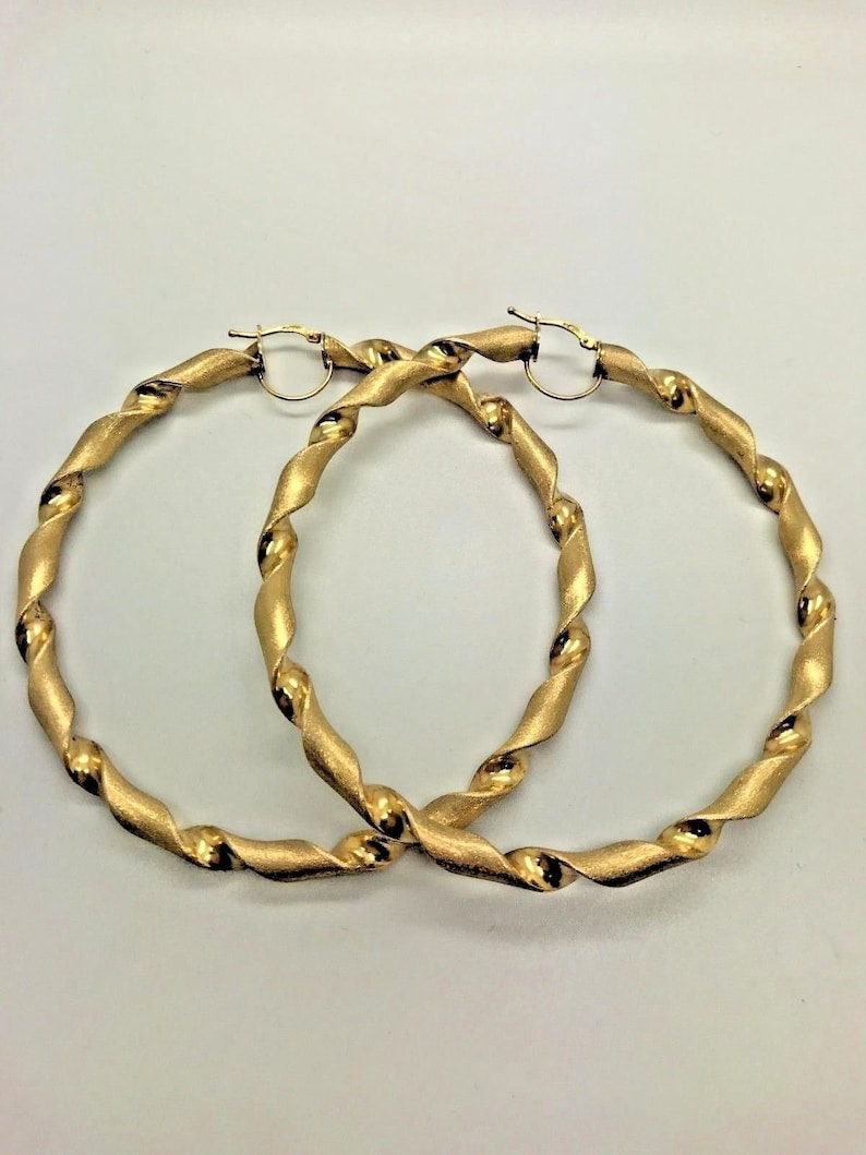 5317baaf5b7cb 9ct Yellow Solid Gold Extra Large Hoop Earrings