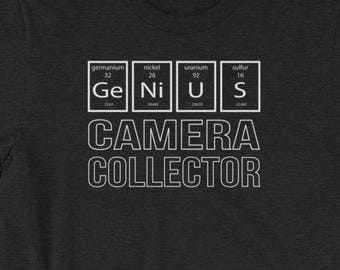 CAMERA COLLECTOR - T-shirt Periodic Table of The Elements Genius Shirt - Gift for Men and Women When Collecting Is More Than A Hobby
